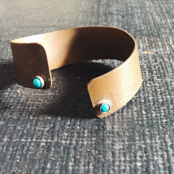Free People vintage Copper and Turquoise Bangle